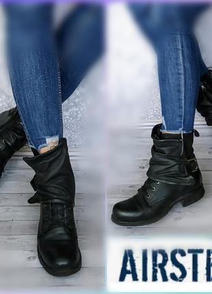 37-38р кожа! airstep,a.s.98италия  ботинки,сапожки