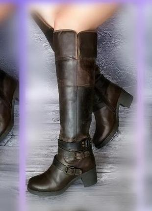 37-38р кожа! новые ixxo франция,ботфорты,высокие сапоги с эффе...