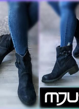 39-40р замша италия mjus замшевые полусапожки ботинки