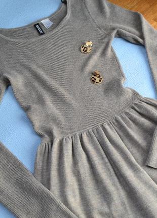 Трикотажное платье размер хс