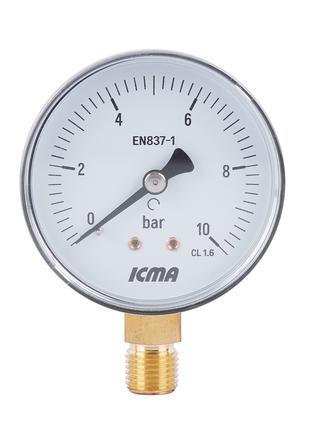 "Манометр Icma 1/4"" 0-6 бар, нижнее подключение №244"