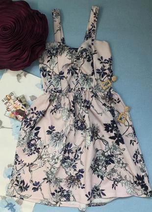 Красивое платье /сарафан в цветы размер с