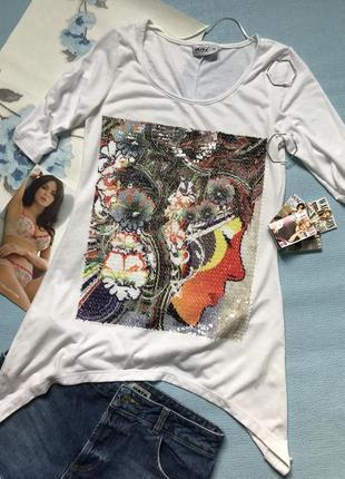 Удлинённая футболка размер хс/с