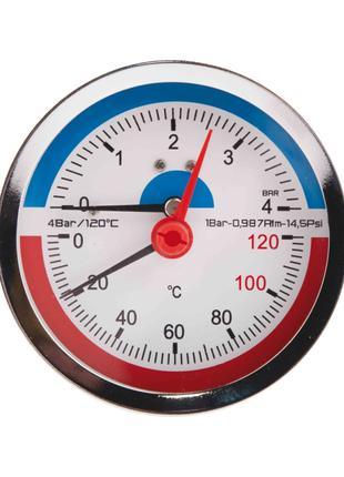 """Термоманометр SD Plus 80х1/2"""", заднее подключение SD1734B"""