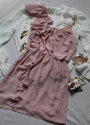 Милое пудровое платье размер хс