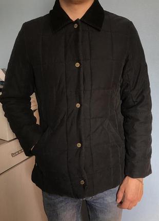 Курточка мужская осеняя чёрная стёганая размер с