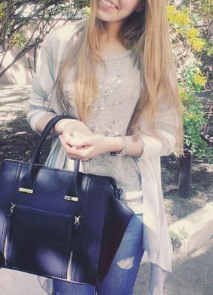Красивая черная сумка вместительная