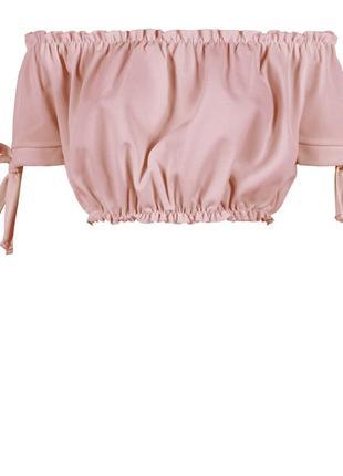 Шикарный нежно-розовый пудровый топ