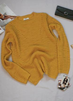 Классный горчичный свитер размер с