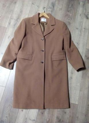 Класичне пряме шерстяне пальто / колір - кемел
