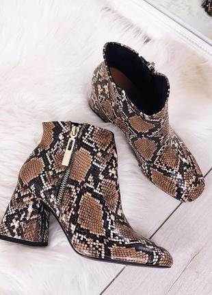 Женские ботинки под змею питона