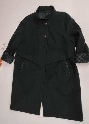 Женское кашемировое пальто осень-зима на потайных пуговицах ра...