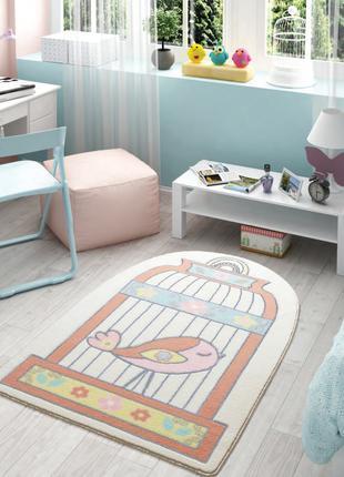 Ковер в детскую комнату Confetti - Happy Cage 01 salmon оранже...