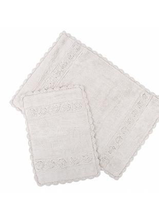 Набор ковриков Irya - Waltz bej бежевый 60*90+40*60