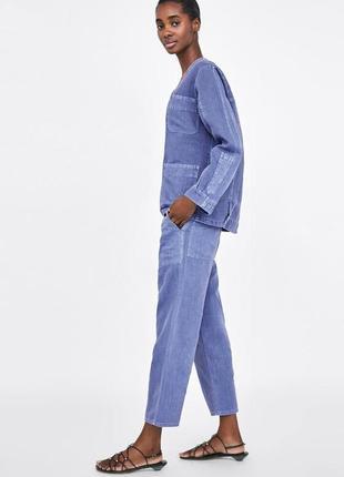 Zara джинсовые брюки прямые