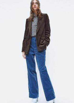 Женский вельветовый бархатный пиджак женский длинный блейзер zara