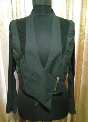 Класнючая накидка укороченный пиджак с сеткой zigga