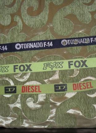 Стильные ремни Tornado F-14. Не FOX, Diesel. Синий. Стропа. Пояс