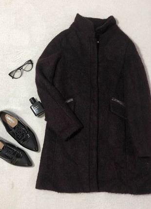 Пальто оверсайз бойфренд шерстяное Mango женское размер М