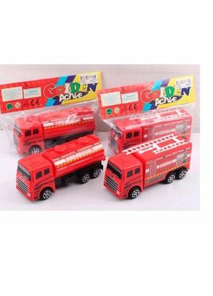 Пожарная машина M-552B инерция 16 5см 2 вида в пакете 21 5-15-6см