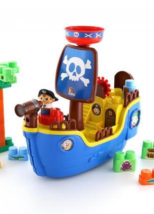 Набор Полесье Пиратский корабль с конструктором (в коробке) 62246