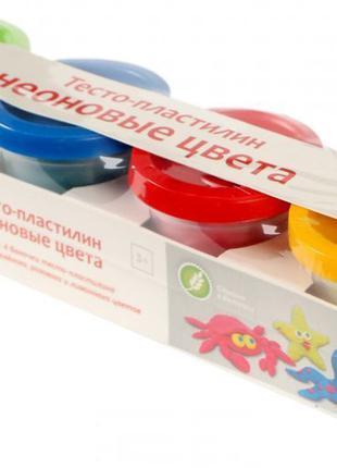 """Набор для детской лепки """"Тесто-пластилин. Неоновые цвета"""" GENI..."""