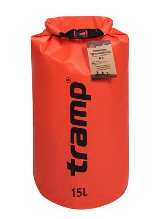 Гермомешок Tramp PVC Diamond Rip-Stop оранжевый 15 л. гермомеш...