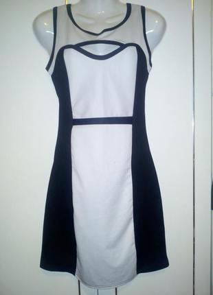 Стильное фактурное контрастное платье indulgence