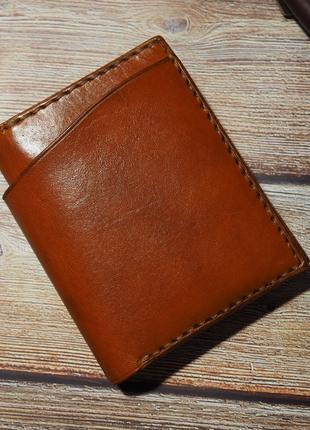Кожаный портмоне, бифолд 100% ручная работа