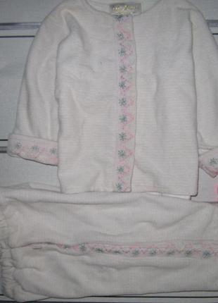 Костюм пижама тёплая велюр