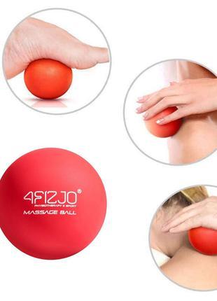Массажный мячик FIZJO Lacrosse Ball 6.25 см 4FJ1202 Red, мяч д...