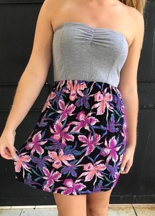 Лёгкий летний сарафан платье в цветы вискоза