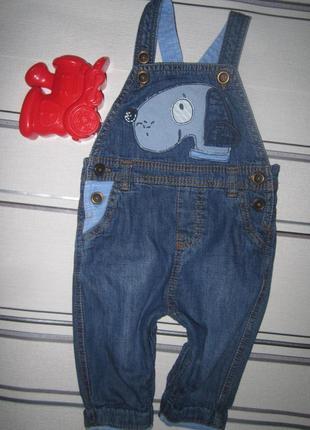 Комбинезон джинс на подкладке