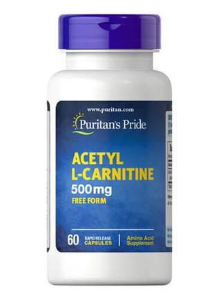 Puritan's Pride Acetyl L-Carnitine 500 mg 60 капсул