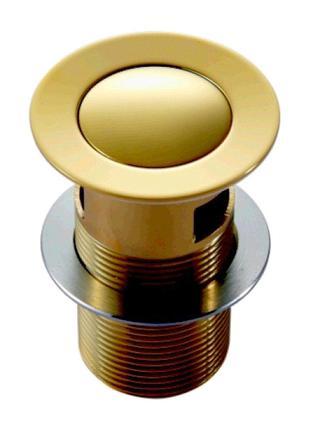 Клапан донный Pop-up, золото