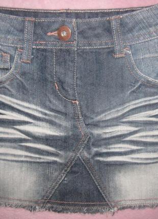 Стильная юбка джинс