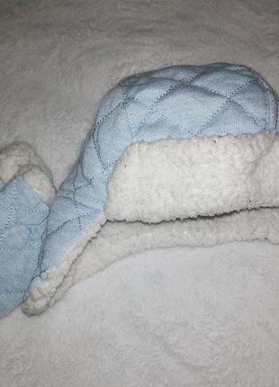 Набор шапка рукавички