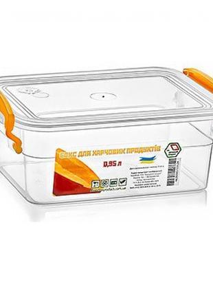 Контейнер пищевой с ручками 950мл 12*17.6*7.5см NP-56 (70шт)