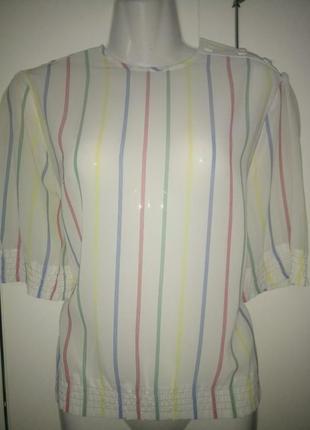 Шикарная винтажная блуза блузка