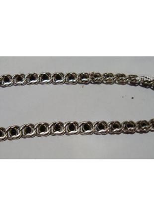 Серебро 925 проба . красивенный браслет на ногу с черными камнями