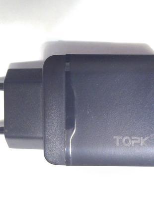 TOPK 2-х портовое зарядное устройство БЫСТРАЯ зарядка QC3.0