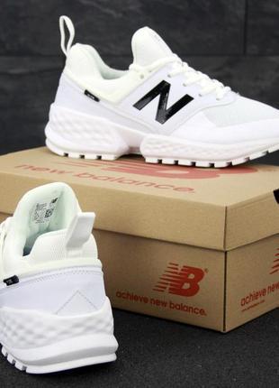 New balance 574 sport v2 black мужские кроссовки белые
