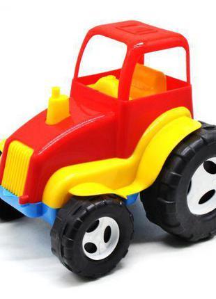 Трактор пластиковый красный KW-07-708