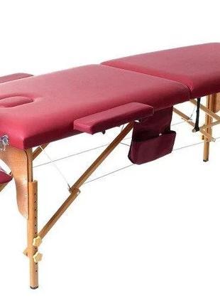 Массажный стол-чемодан двухсекционный , деревянный , раскладно...