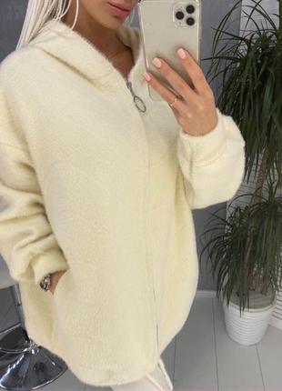 Куртка из альпаки большого размера