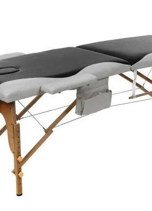 Массажный стол-чемодан двухсекционный деревянный раскладной , ...