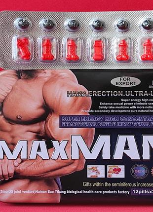 Средство для потенции MaxMan V (МаксМэн 4) 12 капсул упаковка