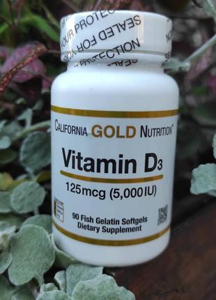 Витамин D3 California Gold Nutrition 125мкг, 90 шт