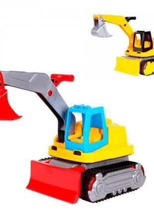 Трактор экскаватор игрушечный пластиковый, ТехноК 6276, для де...