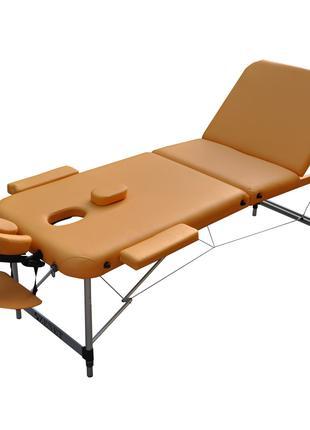 Массажный стол с вырезом для лица ZENET Песочный размер L ( 19...